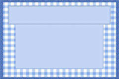 Blue and White Baby Frame for your message or invitation. With copy-space in the middle Stock Image