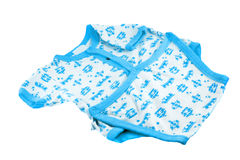 Blue and white baby jumper Stock Image