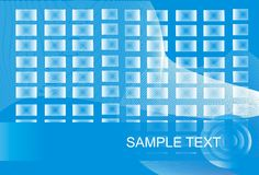 Blue and white background. A background in blue and white with boxes and space for text Stock Image