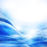 Blue and white background with bubbles Stock Images