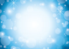 Blue and white background with stars - vector Stock Images