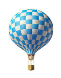 Blue-white balloon Stock Photo