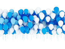 Blue and white balloons Royalty Free Stock Photo