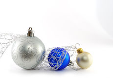 Blue and white balls Stock Photography