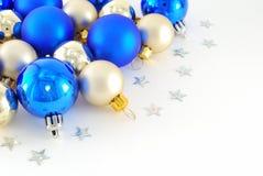 Blue and white balls Stock Photos