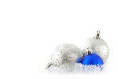 Blue and white balls Stock Images