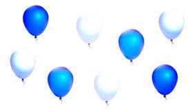 Blue and white balls royalty free illustration