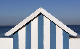 Blue and white beach house Stock Images