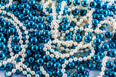 Blue and white beads Royalty Free Stock Image