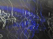 Blue and white beams light painting Royalty Free Stock Photo
