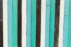 Blue, white, black contrasting old wooden texture background Stock Photography