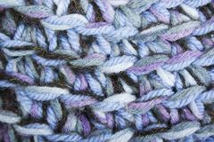 Blue, white and black knit texture wool threads Royalty Free Stock Photo