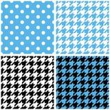 Blue, white and black pastel vector tile background set Stock Image