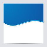 Blue and White Blank Abstract Background. Vector Royalty Free Stock Photos
