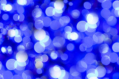 Blue and white bokeh Stock Photos