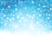 Blue white bokeh background Stock Image