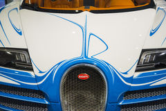 Blue and white Bugatti Royalty Free Stock Image