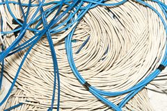 Blue and white Cable Royalty Free Stock Photography