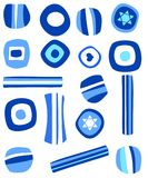 Chanukah Candy Illustration. Blue and white candy for Chanukah holiday stock illustration