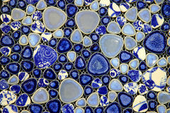 Blue and white ceramic tile Stock Photo