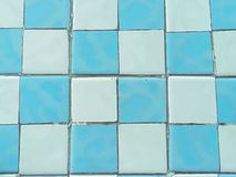 Blue and white ceramic tiles texture floor royalty free stock images