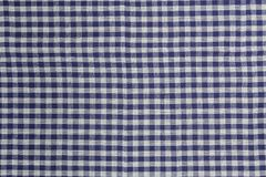 Blue white checked kitchen towel background structure Royalty Free Stock Photos