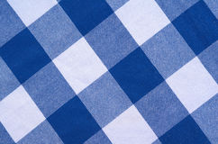 Blue And White Checked Material Royalty Free Stock Image
