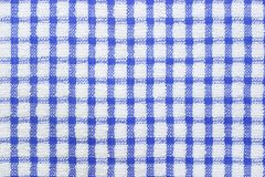 Blue and white checked pattern Royalty Free Stock Photos