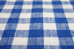 Blue and white checkered fabric Royalty Free Stock Photography
