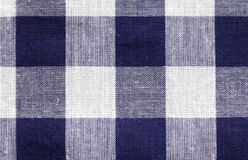 Blue white checkered fabric background Stock Photography