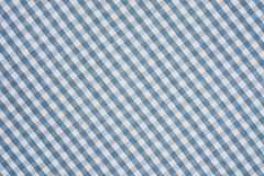 Blue and white checkered fabric background texture Royalty Free Stock Photography