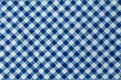 Blue and White Checkered Plaid Seamless Pattern Stock Photography