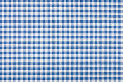Blue and white checkered textile Royalty Free Stock Photography