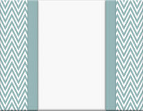 Blue and White Chevron Zigzag Frame with Ribbon Background Stock Images