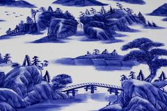 Blue and white China porcelain. A photo of blue and white China porcelain royalty free illustration