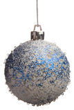 Blue and white Christmas ball Royalty Free Stock Photos