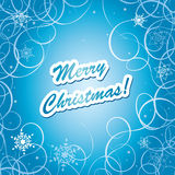 Blue and white christmas frame - vector Royalty Free Stock Photography