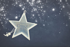 Blue and white christmas Stock Images