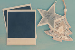 Blue and white christmas Stock Photo