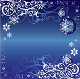 Blue and White Christmas Themed Background Pattern Royalty Free Stock Image