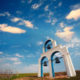 Blue and White Church bells. For adv or others purpose use Stock Image