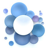 Blue and white circle background. Abstract background with white and blue transparent disks Stock Illustration