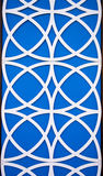 Blue and White Circle Patterns Stock Image