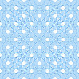 Blue and White Circles Tiles Pattern Repeat Background Royalty Free Stock Images