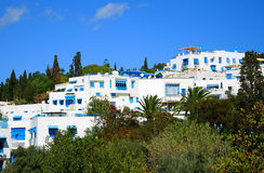 Blue and White City of  Sidi Bou Said Royalty Free Stock Photos