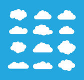 Blue and white cloud Royalty Free Stock Photos