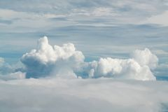 Blue white cloud and sky. Natural landscape background Royalty Free Stock Photo