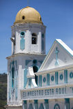 Blue and white colonial church in Venezuela Stock Photography