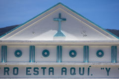 Blue and white colonial church in Venezuela Royalty Free Stock Image