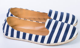 Blue and white color sandal shoes Royalty Free Stock Photo